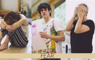 three images about fear